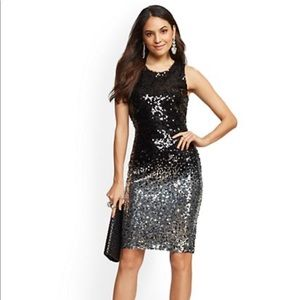 Large Black/Silver Sequined Dress
